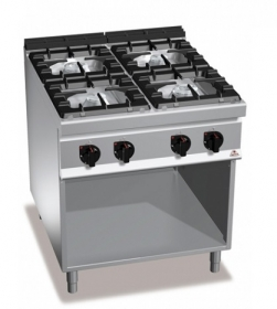 4 BURNER GAS COOKER ON CABINET