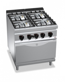 4 BURNER GAS COOKER ON 1/1 ELECT. OVEN
