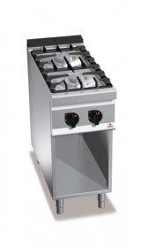2 BURNER GAS COOKER ON CABINET